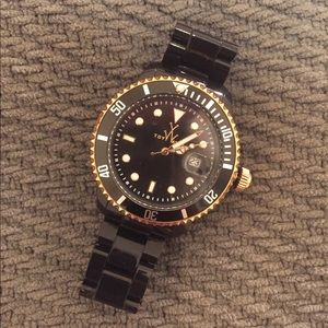Black and Gold ToyWatch - Like New